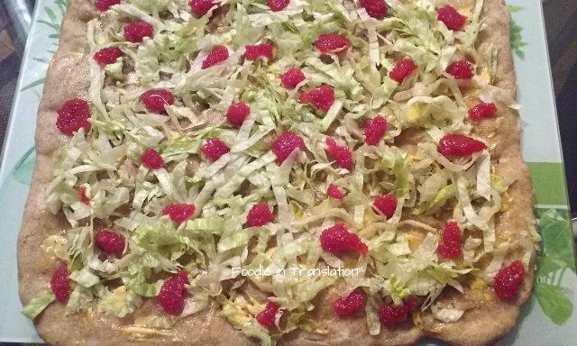 La Rubrica del Lunedì: Pizza alle uova di lompo rosse - Monday's Page: Red lumpfish caviar pizza