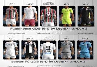 Update Kits BR Santos, Fluminense 16-17 Pes 2013 By luan17