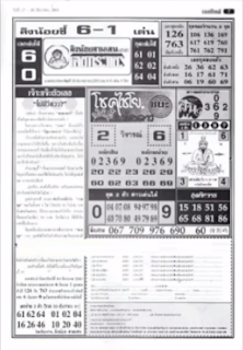 Thailand Lottery First 4PC Papers For 01-01-2019 | Thai Lotto Tip