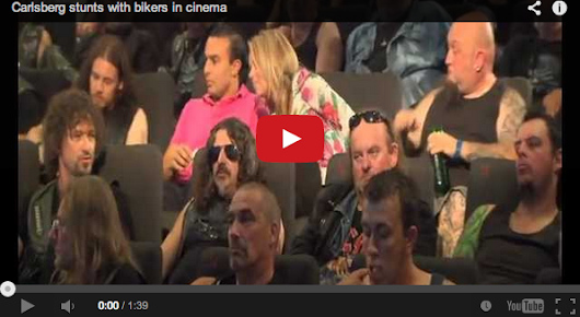 Carlsberg stunts with bikers in cinema | der digitale Voyeur