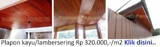 Harga plapon kayu terbaru di Jakarta