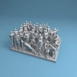 1/350 set – 34 figures