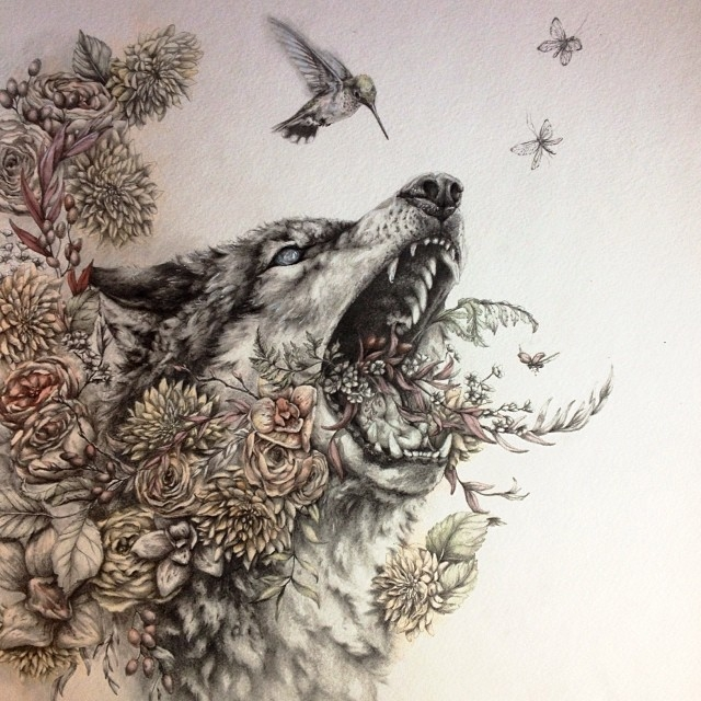 03-Thorn-Wolf-Sarah-Leea-Petkus-Animal-Drawings-Steeped-in-Symbolism-and-Surrealism-www-designstack-co