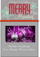 http://merrymondaychristmaschallenge.blogspot.co.uk/2016/04/merry-monday-201-purple-white-and-silver.html