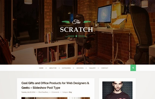 Demonstração Theme Scratch Clean e Responsivo para Blogs 2018