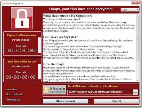 VIRUS WANNACRY: Ataque informático a gran escala sacudió al mundo esta semana
