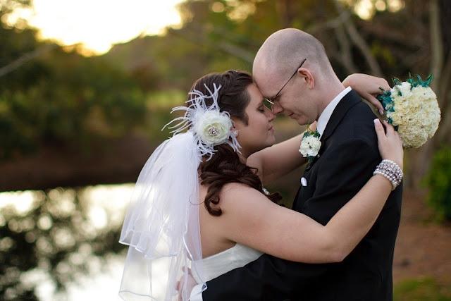 At Home Disney Wedding - Bride and Groom