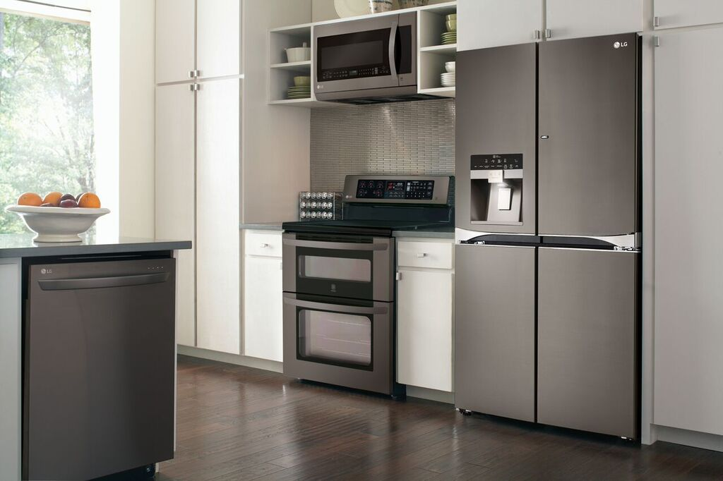 lg s new black stainless steel an