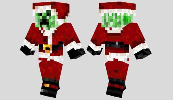 Skins Navideños Para Minecraft Papa Creeper Noel Minecraftenlaweb - Skin para minecraft pe de navidad
