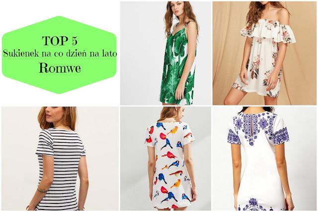 TOP 5: sukienek na co dzień na lato | Romwe