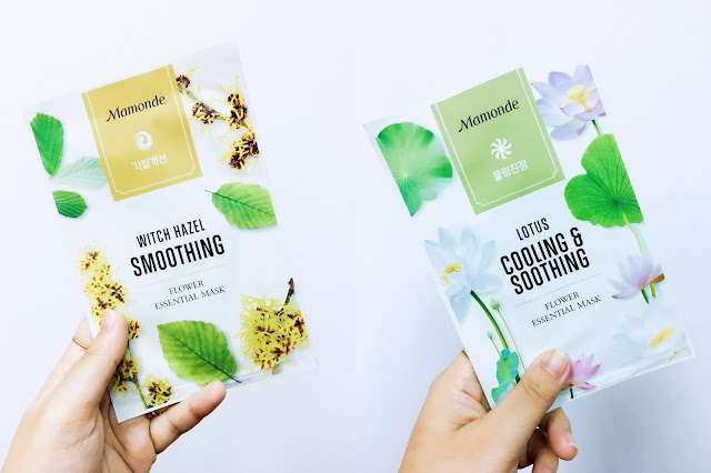 Mamonde; Flower Essential Masks; KBeauty; Mamonde Malaysia; Mask Review; Witch Hazel Soothing; Lotus Cooling & Soothing