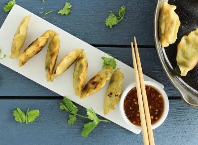 Gluten Free Potstickers #vegetarian #chinese