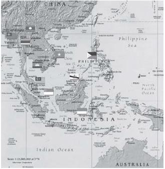 Deskripsi Keadaan Geografis, Bentang Alam dan Iklim di Kawasan Asia Tenggara