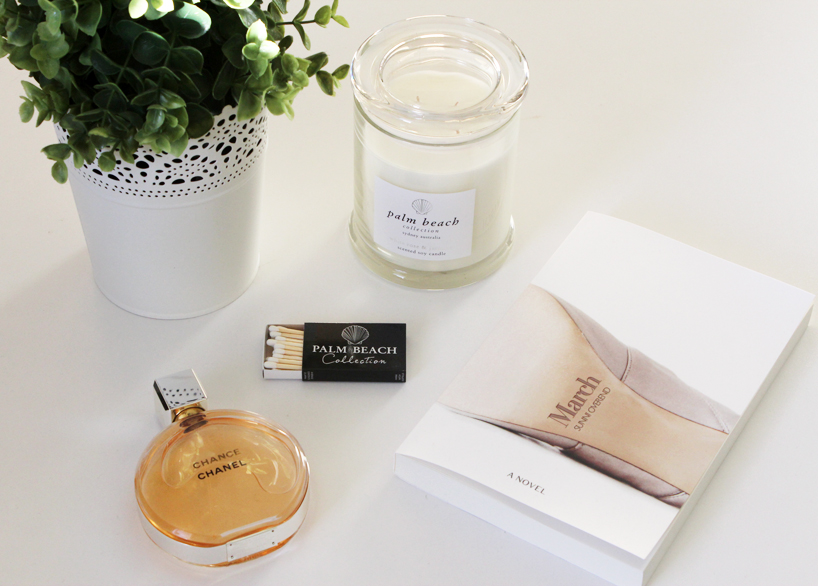 Chanel Chance, Palm Beach Collection, Palm Beach candles, White Rose and Jasmine, March by Sunni Overend, March book, Sunni Overend
