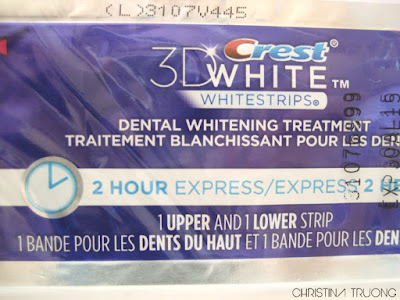 Elle Canada Spring 2014 Beauty Box Crest 3D White Whitestrips 2 Hour Express