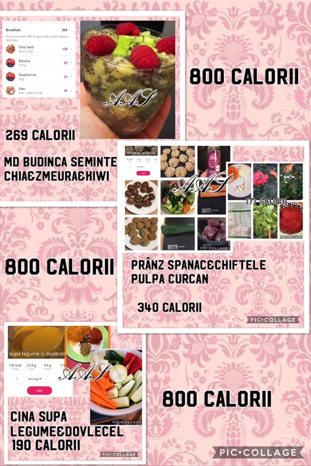 dieta 800 calorii pe zi meniu