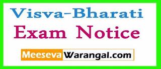 Visva-Bharati All Courses Of Reg / Back Candidates / All Sems-2017 Exam Notice