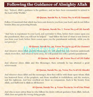 Following the Guidance of Almighty Allah