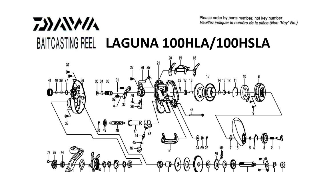 Daiwa Laguna 2014 Model Schematics Most Complete Fishing