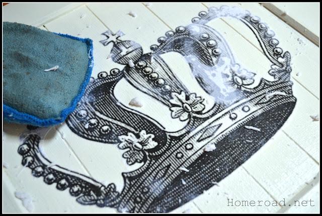 rubbing paper off crown design