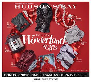 Hudson's Bay weekly Flyer December 7 - 13, 2018
