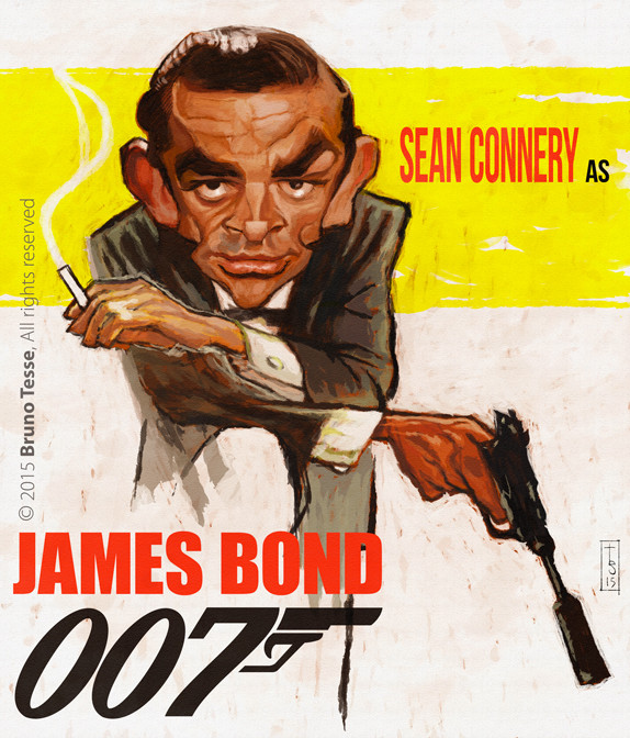 Sean Connery por Bruno Tesse