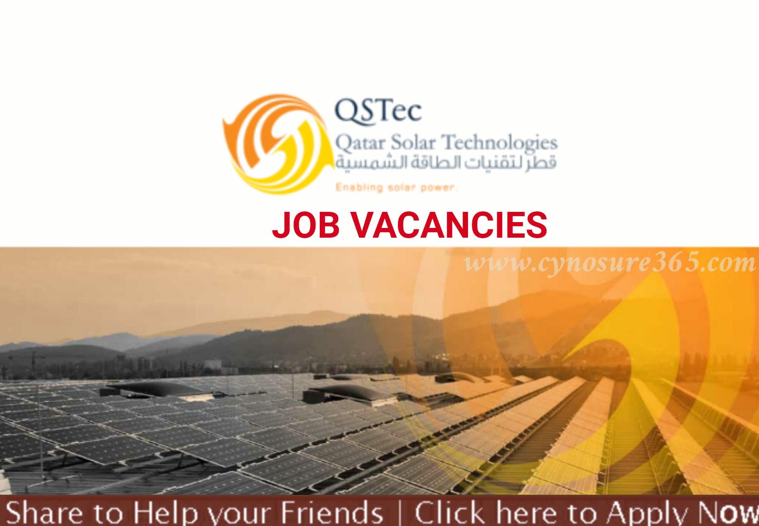 Qatar Solar Technologies Job Vacancies Cynosure365