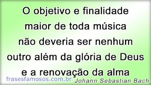 O objetivo e finalidade maior de toda música não deveria ser nenhum outro além da glória de Deus e a renovação da alma