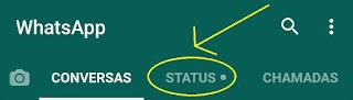 Como acho o status stories