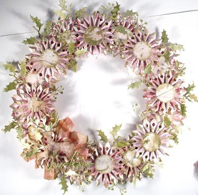 Sizzix Rosette Dies Tim Holtz Prima Marketing Santa Baby Sizzix Winter Wonderland Wreath for The Funkie Junkie Boutique