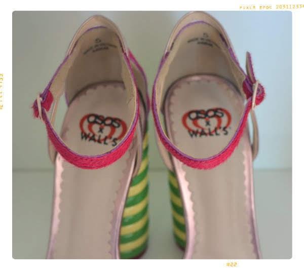 ASOS x Walls branding inside shoes