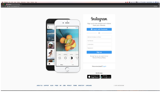 Sign Up for Instagram Online via Pc