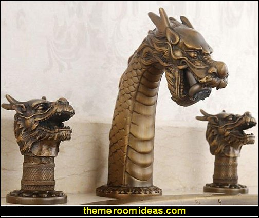 Dragon Head Design Pure Copper Bathroom Faucet