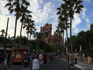 hollywood studios tower of terror dusk