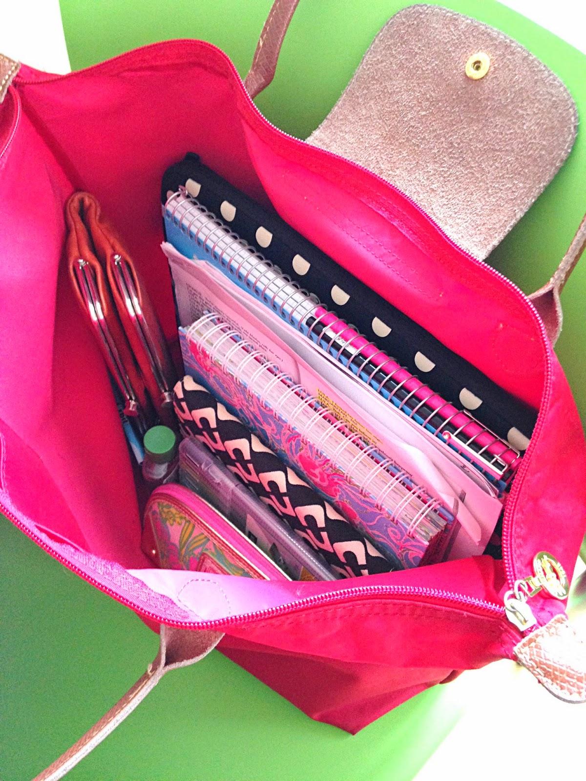 Handbags Amp Heartbeats What S In My School Bag