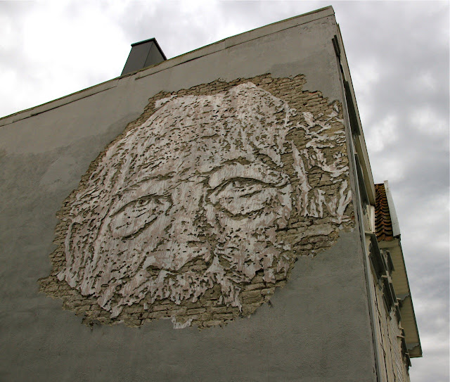 Street Art Portrait By Vhils For Nuart Festival 2013 In Stavanger, Norway. 1