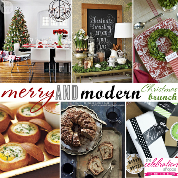 Merry and Modern Christmas Brunch Party Ideas - via BirdsParty.com