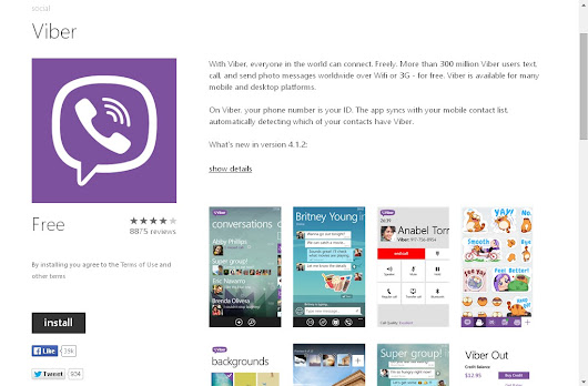 A social App Viber Updated on Windows Phone Store