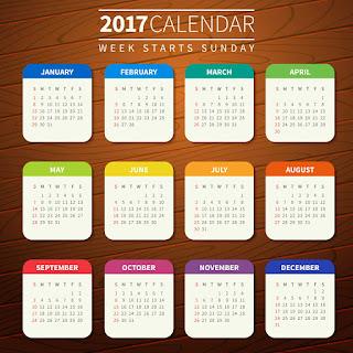 2017カレンダー無料テンプレート188