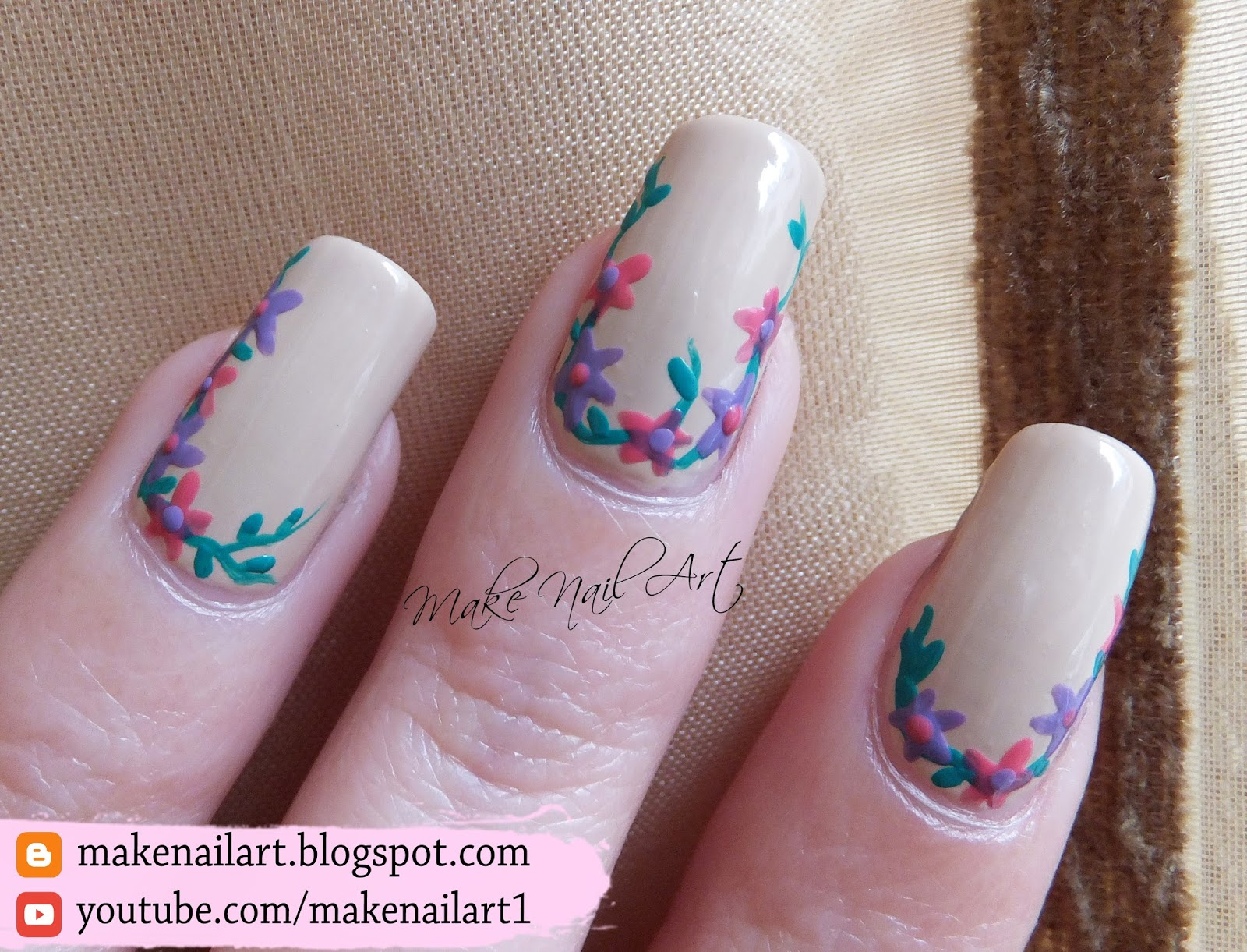 Make Nail Art Spring Flowers Nail Art Design Tutorial