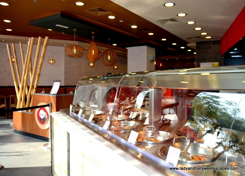 Panda Express restaurant counter in Dubai