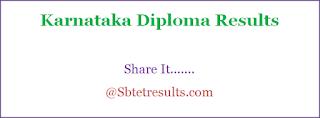 btelinex results 2018, karnataka diploma results 2018