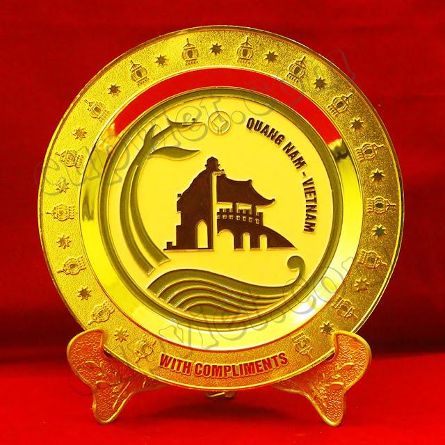 biểu trưng đồng,đĩa lưu niệm, đãi đồng chạ khắc