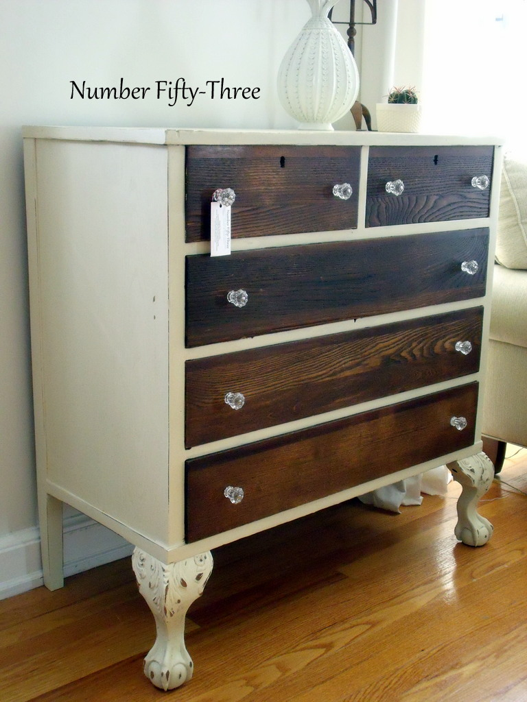 Number FiftyThree TwoToned Antique Dresser