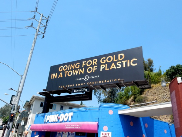 Going for gold Comedy Central Emmy 2015 billboard