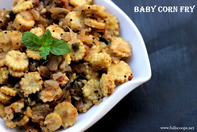 Baby Corn Poriyal