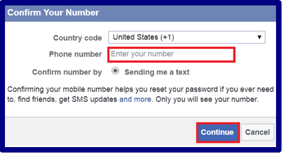 Facebook Number Change