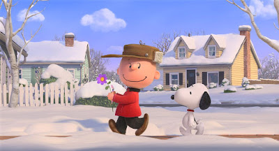 "Charlie Brown and Snoopy go to meet the Little Red-Haired Girl in ""The Peanuts Movie."""