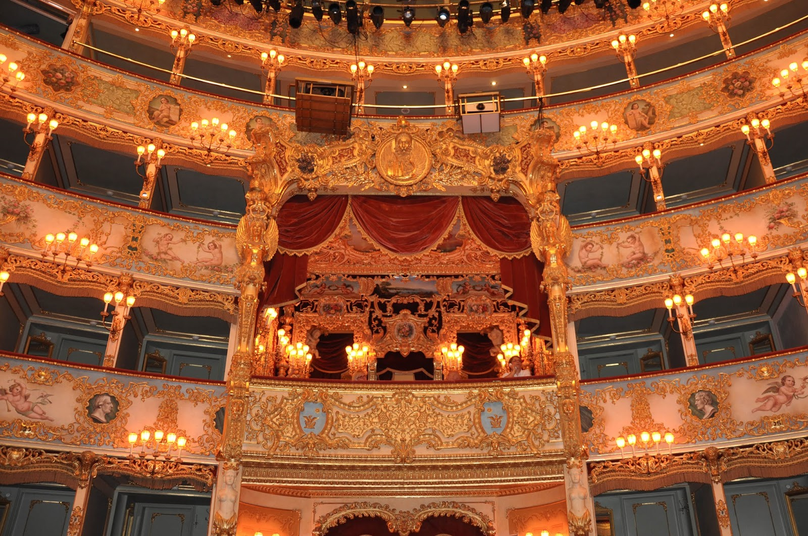 The Imperial box, La Fenice, Venice, Italy