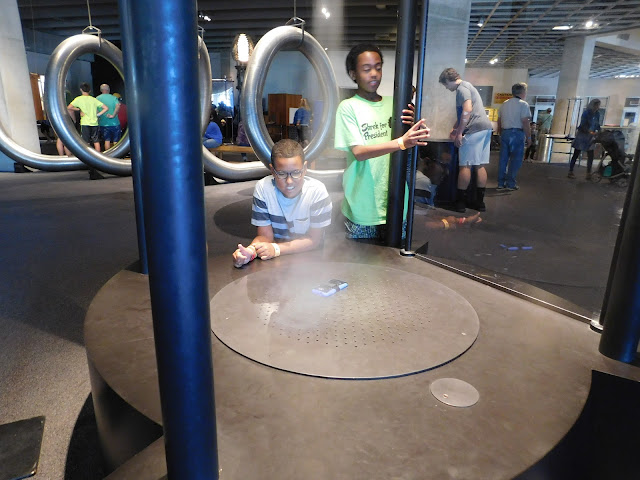 Great Lakes Science Center tornado maker #StayCuriousCLE
